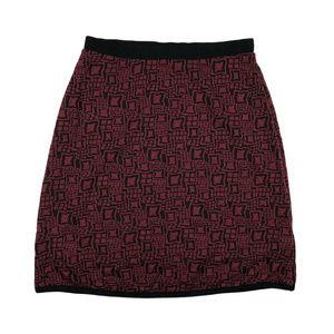 d323c5a0dc Le Lis Skirts - Stitch Fix Le Lis Red   Black Diamond Knit Skirt